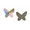 Swarovski Flatback 2854 Butterfly 12mm Aurora Borealis Crystal